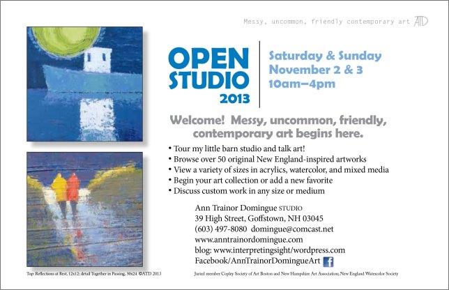 Open Studio 2013 Ann Trainor Domingue